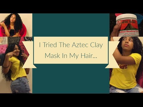 Aztec Clay Mask In My Long Curly Hair