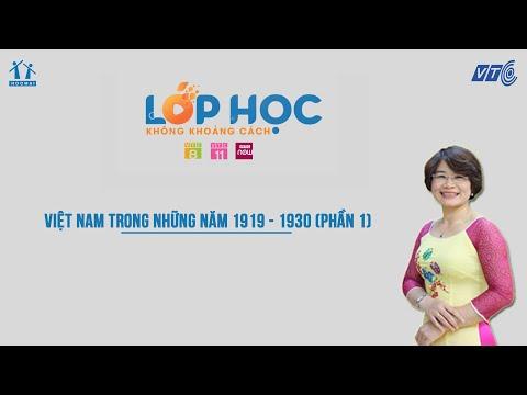 Lớp 9| Lịch sử| Việt Nam trong những năm 1919 - 1930 (p1) | HOCMAI - VTC