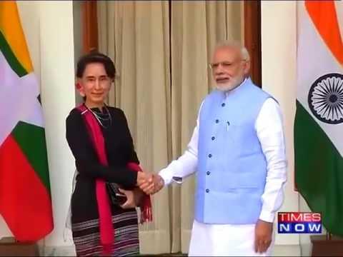 PM Modi Meets Myanmar's Aung San Suu Kyi