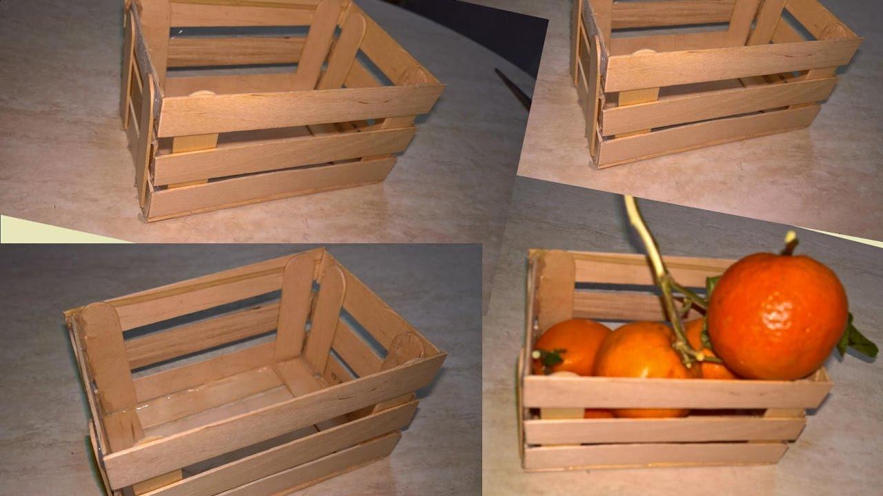 Presepe Con Bastoncini Di Legno : Mini cassettina di legno con gli abbassalingua youtube