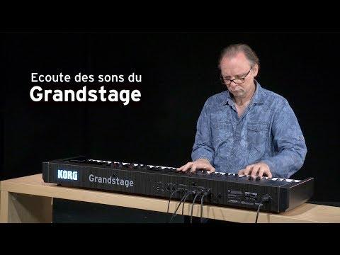 Écoutez les sons du piano numérique KORG GRANDSTAGE avec Michel Deuchst (vidéo de La Boite Noire)