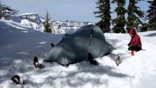 snow camping 2011 Crater Lake