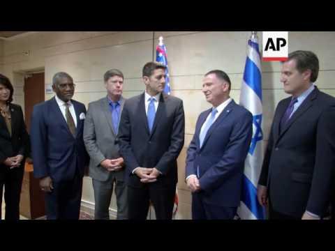 US House speaker visits Knesset