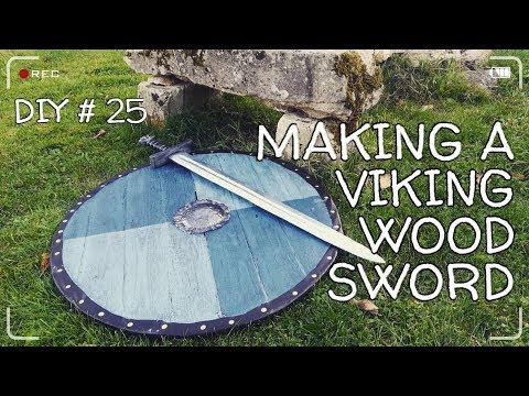 DIY#25 - Wood viking sword for beginners #woodwork #viking
