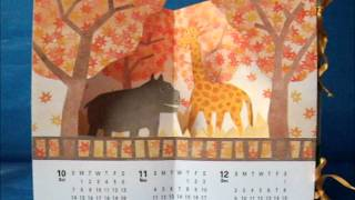 papercraft - pop-up - pop-up calenders (Canon Papercraft) - dutchpapergirl