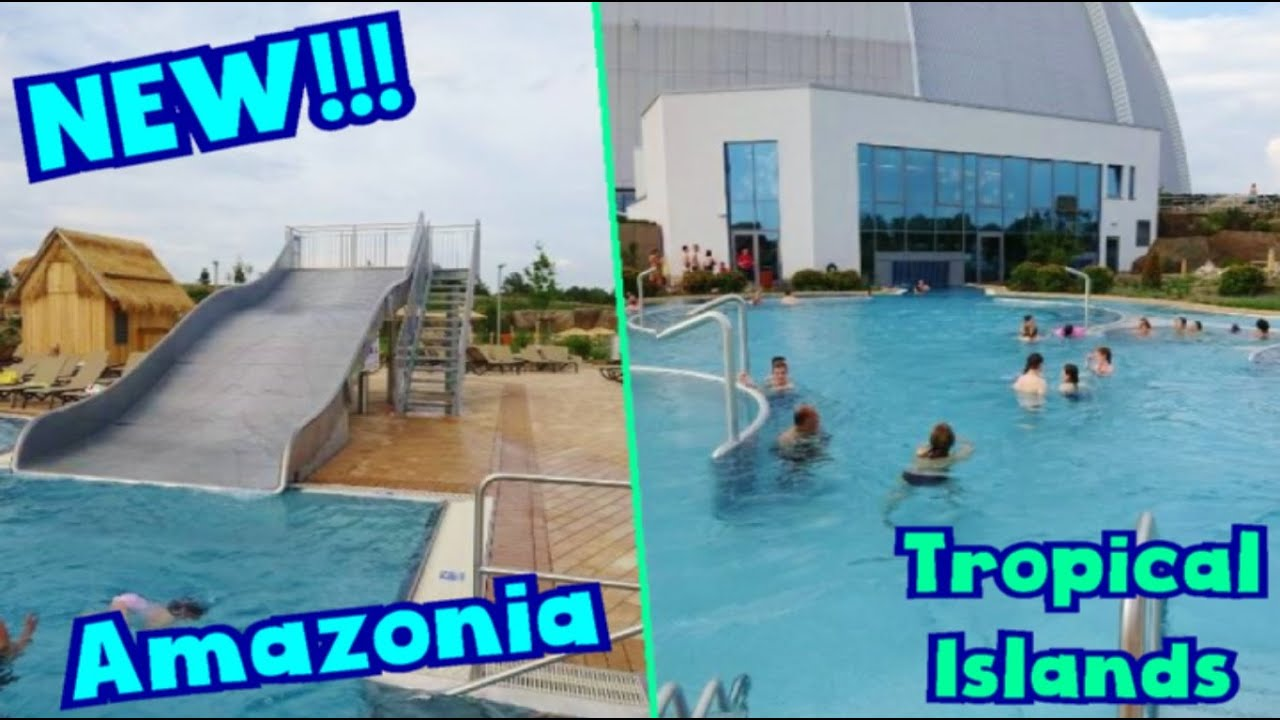 Swimming Pools In Berlin New Amazonia Outdoor Pool Family Slide At Tropical Islands 2016 Berlin