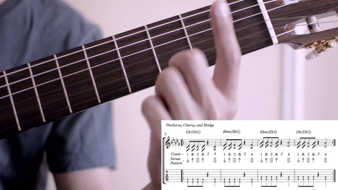 Maroon 5 Sugar Easy Guitar Tutorial Chords And Strum Pattern W