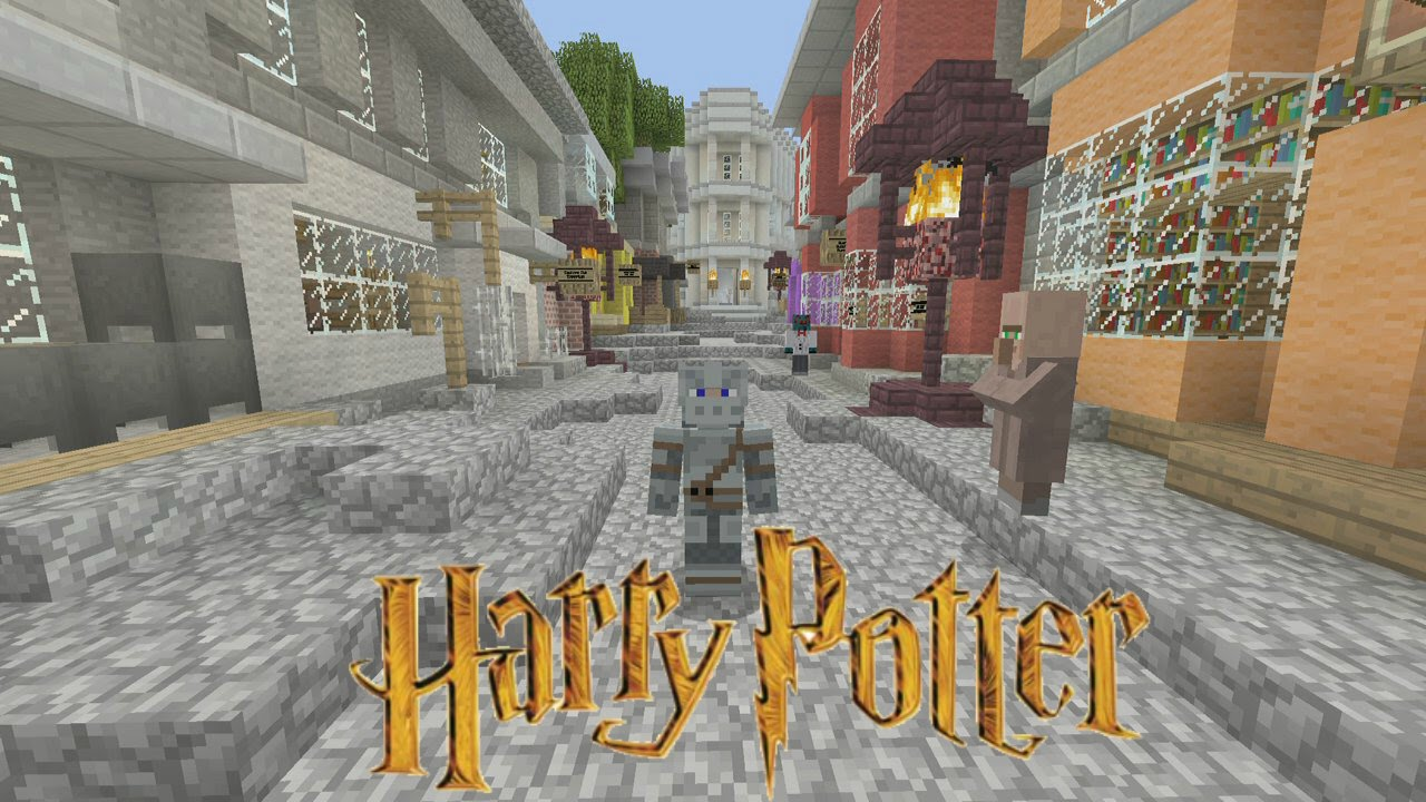 Minecraft - Harry Potter Adventure Map - Diagon Alley [1] - YouTube