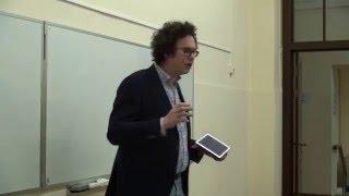 Лекция Кирилла Коротеева в Высшей школе экономики