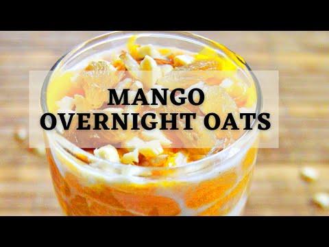 Mango Overnight Oats (Easy + Healthy Breakfast recipe)