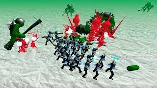 combining unique units.  stickman simulator zombie battle. thumbnail