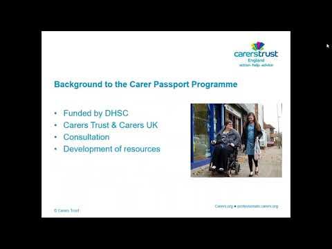 Webinar: Carer Passports in Education settings