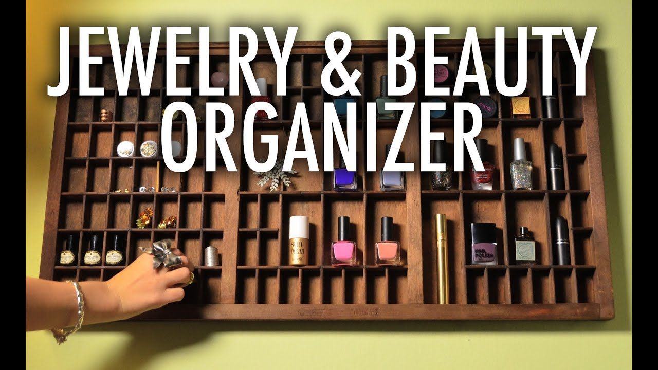 Jewelry and Nail Polish Letterpress Organizer Mr Kate Quickie