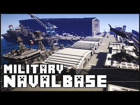 Minecraft - Military Base / Naval Base with Epic Secret!