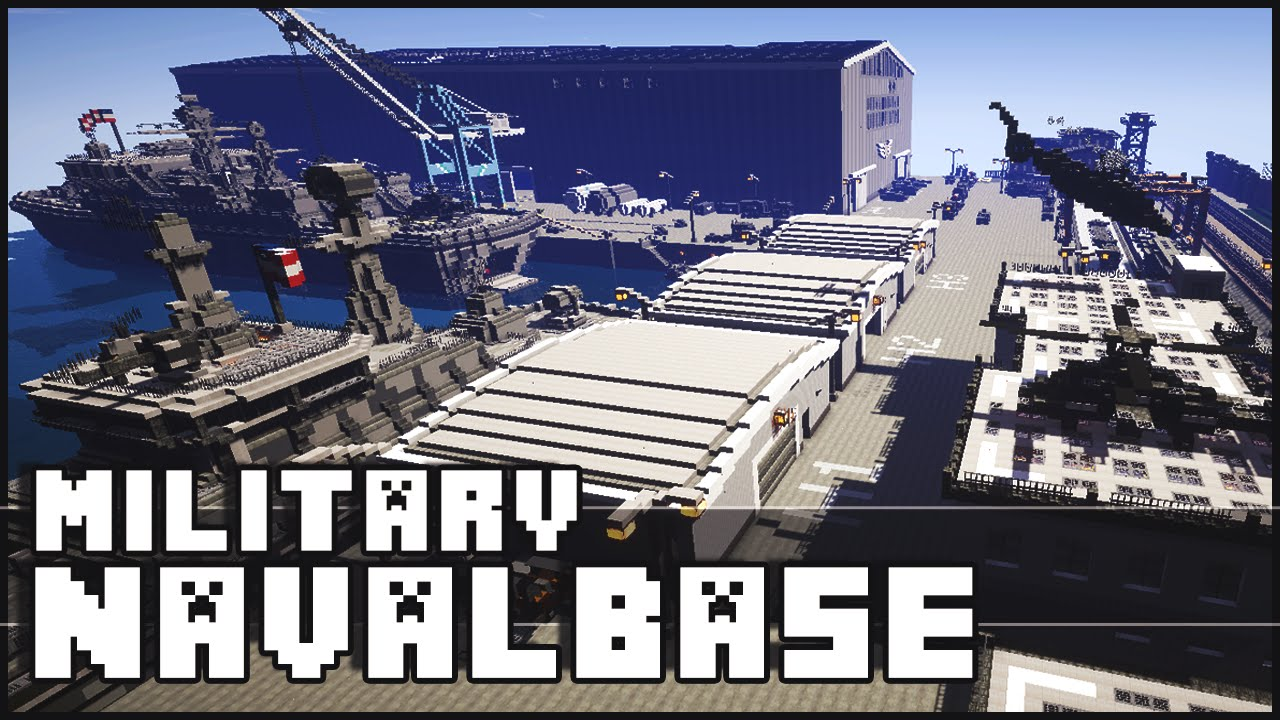 Minecraft military base naval base with epic secret youtube gumiabroncs Choice Image