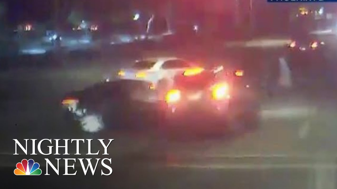 Dramatic Video Shows Car Accident Near Miss With Family Crossing Street |  NBC Nightly News