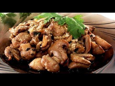 Грибы сухие жареные с луком