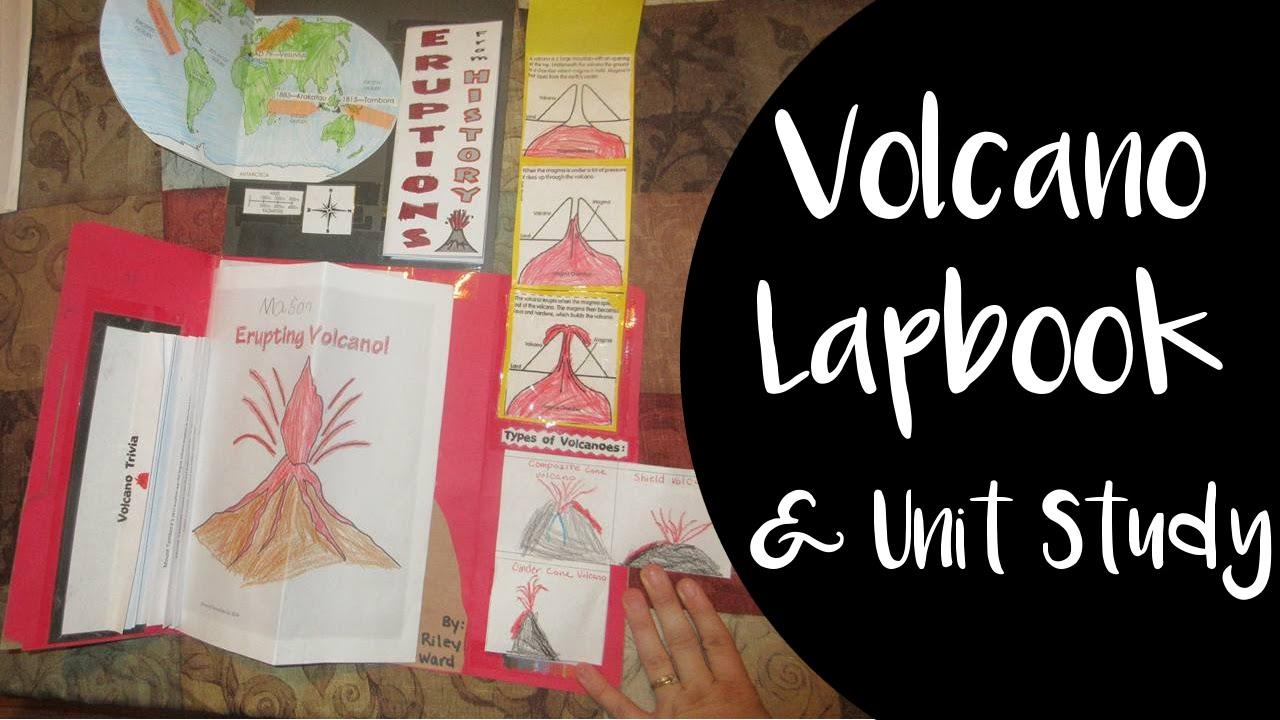 Arachnid Unit Study Volcano Lapbook...