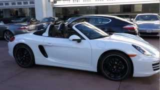 2013 porsche boxster pdk white black full leather now available for sale in beverly hills