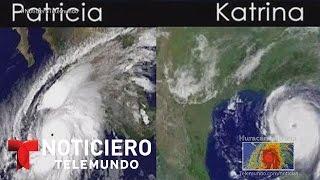 El huracán Patricia es casi tres veces más grande que Katrina | Noticiero | Noticias Telemundo
