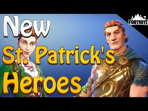 FORTNITE - 3 New St. Patrick's Day Themed Heroes (Demolisher Soldier Perks)