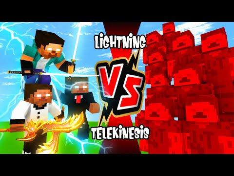 "LIGHTNING VS TELEKINESIS SEASON 3:PART 8 ROFT""HEROBRINE BROS VS ANOMALY777 SQUAD"" | MONSTER SCHOOL"