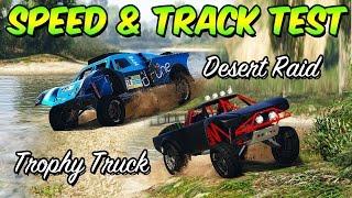 GTA 5 Online - SPEED & TRACK TEST - DESERT RAID E TROPHY TRUCK VS. SANDKING!