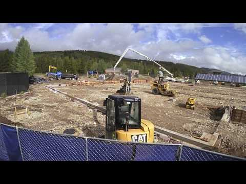 Breck Rec Renovation New Tennis Facility Steel Delivery and Tennis Court Foundation 7.14.2017