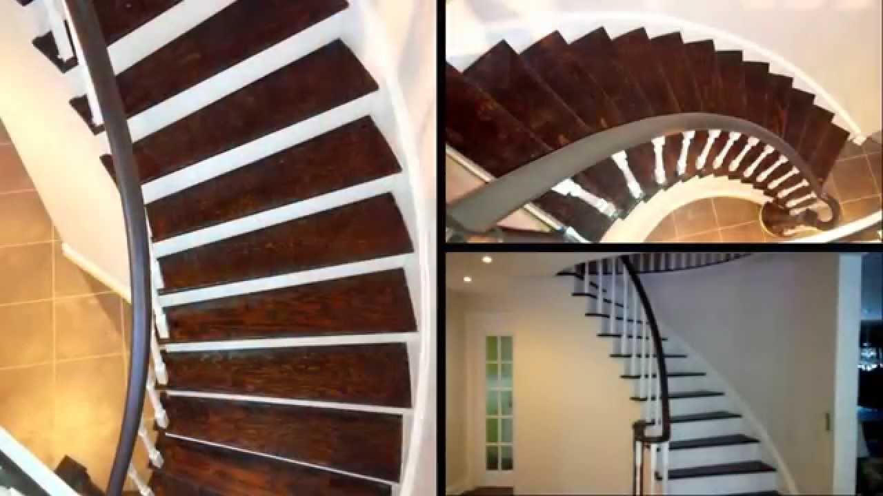 Oak Stair Refinish, Stain And Paint Combination.