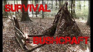 Primitive Survival Bushcraft Tipi Shelter