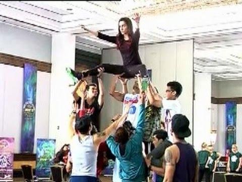 Abcd 2  on location shoot: Varun Dhawan,Shraddha Kapoor doing diffcult Dance stunts
