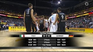 Italia - Germania EuroBasket 2015 Europei di basket 2015 OverTime  89-82