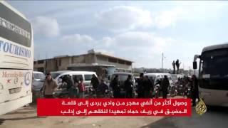 مهجرو وادي بردى في الطريق إلى إدلب
