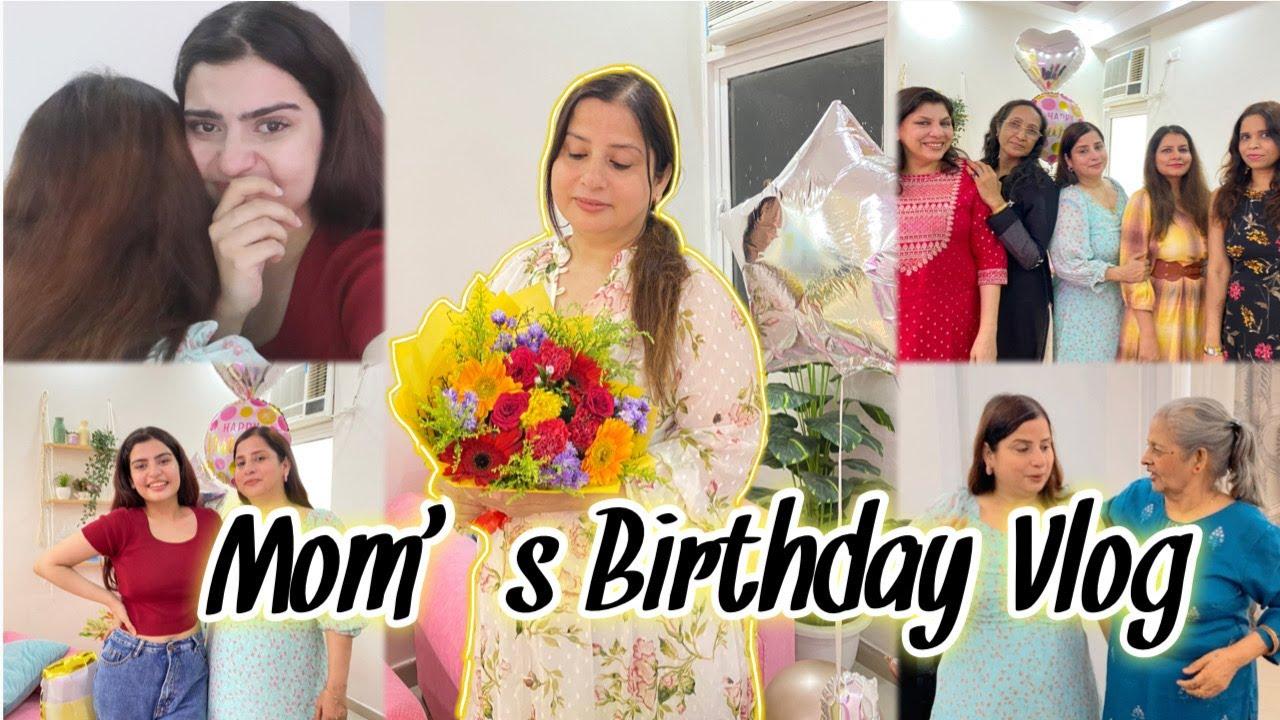 Mom's Birthday Vlog  We Got emotional🥺  Surprise party For Her   Yashita Rai