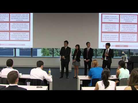 Australian Undergraduate Business Case Competition (AUBCC) Finals, 5 December 2014