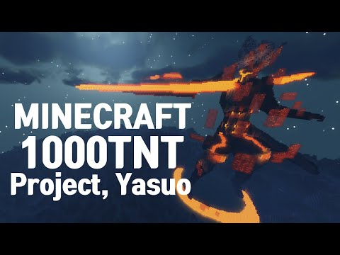 Minecraft : Blow up the 190m Project Yasuo (With 1000 x TNT)
