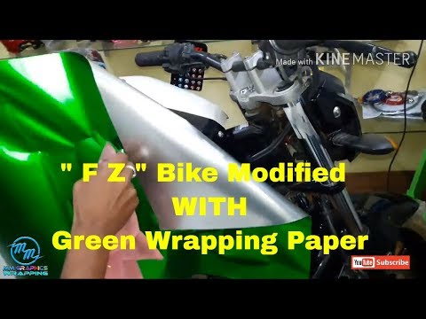 """wrapping paper for """" FZ """" bike full wrap green"""" MUST WATCH"""""""