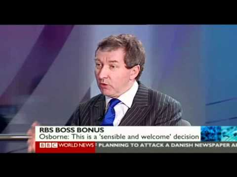 Chris takes a global view of the RBS CEO share option row - BBC World News  - January 30th 2012
