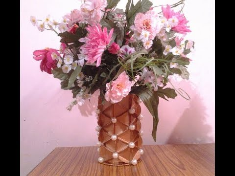 Pretty Flower Vase Out Of Waste Paper Box Youtube