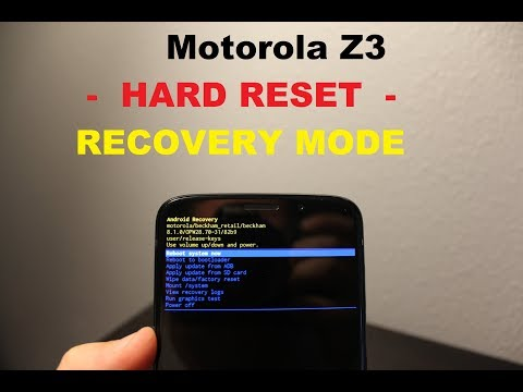 Motorola Z3 play / Force :: Recovery MODE & HARD RESET
