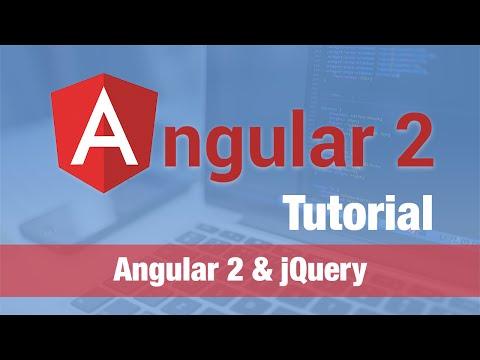 Angular 2 Tutorial (2016) - Angular 2 & jQuery (use with caution!)