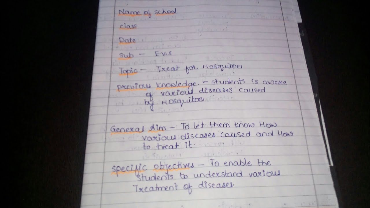 evs lesson plan   how to make lesson plan    lesson plan