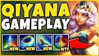 NEW CHAMPION QIYANA ABILITIES & GAMEPLAY REVEALED! NEW *ELEMENT* MECHANIC!!! - League of Legends