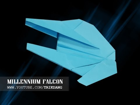 Papercraft Origami for Kids: How to make an EASY paper airplane model | Star Wars Millennium Falcon