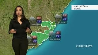 Previsão Grande Vitória - Alerta para temporais