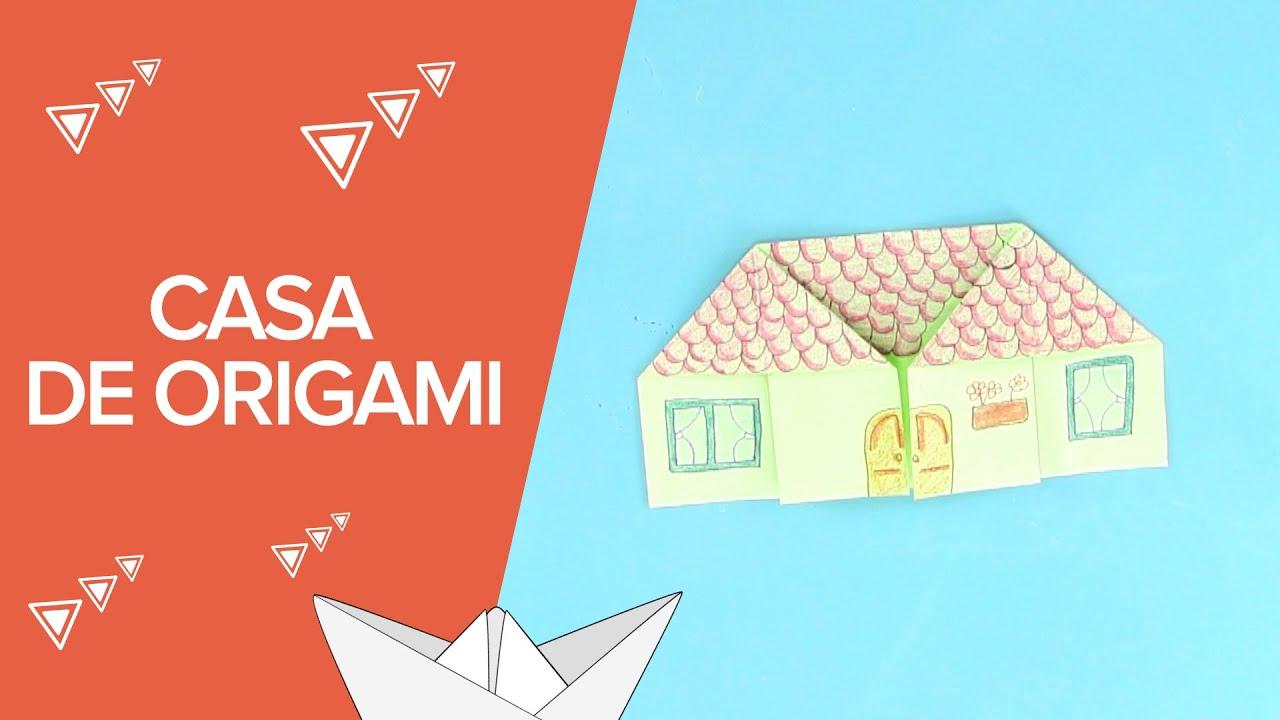 Casa de papel de origami  Papiroflexia para nios  YouTube