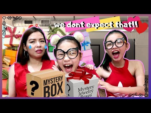 Mystery Gift Box Valentine's Day | what we got for valentines day | Aurea & Alexa with Mommy Misa