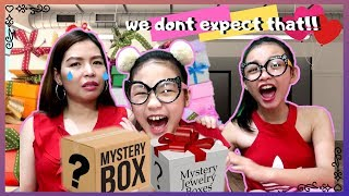 Mystery Gift Box Valentine's Day   what we got for valentines day   Aurea & Alexa with Mommy Misa