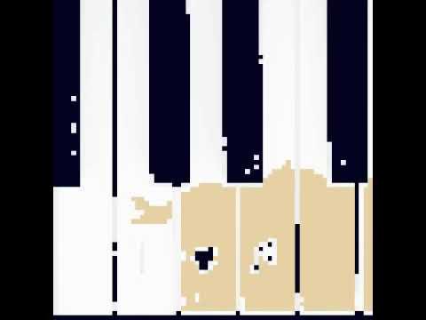Pixel art piano/music love wallpaper