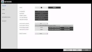 How to setup the Network IP for PixelMaster Embedded NVR